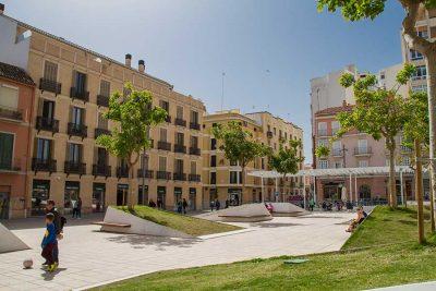 Plaza de Camas en el Centro de Málaga